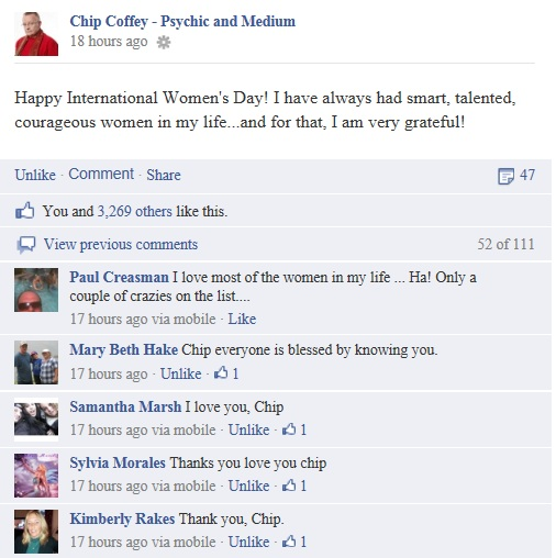 Chip Coffey International Women's Day Facebook