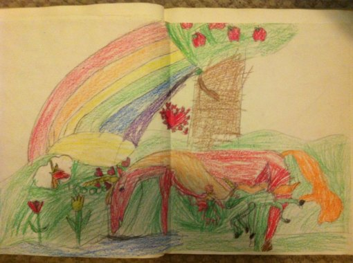 Brandon Art - Unicorn Family with Fairy