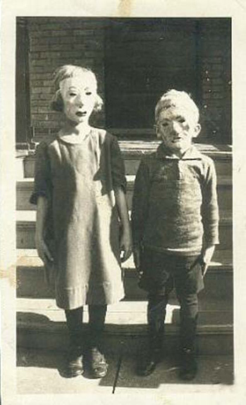 Halloween - Creepy Vintage Masks Costumes IX