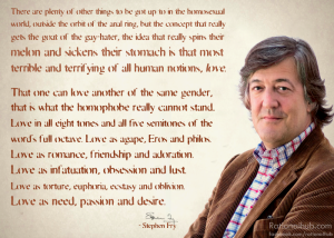 Stephen Fry Homosexuality Love